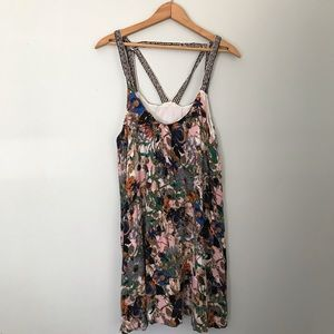 🛑5/$25 boho abstract floral sun dress size large